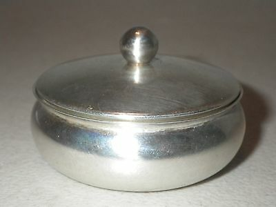 ANTIQUE STERLING SILVER LUNT #23 ROUND LIDDED SUGAR BOWL - 42.3g - ESTATE FIND!