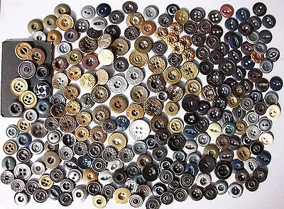 BUTTONS 277 Antique Metal Work Clothes Advertising