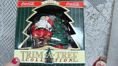 1996 Coca-Cola  Lighted Santa Trim A Tree  Collection Christmas Ornament New