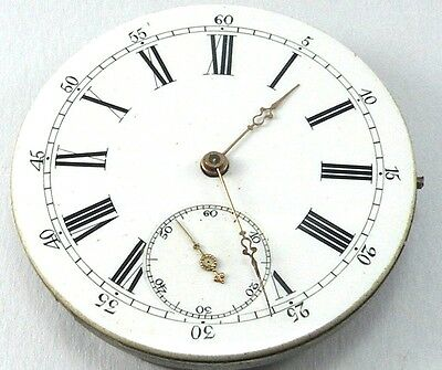 High Grade Anonymous Pocket Movement -  Ø 41mm - Excellent Dial -  For Parts