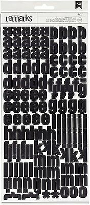 1108 Black and White Large Alphabet Letter and Number Stickers