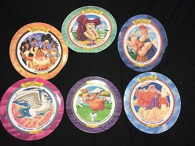 Mcdonald's Disney Hercules Plates Collectible 1997 full set of 6 - Vtg RARE