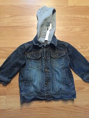 Toddler Boys Guess Jeans Lined Jean Jacket Sz 18 M EUC