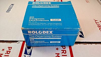 Rolodex Organizing System 75 Clear Transparent Protectors & 300 File Cards TP-24