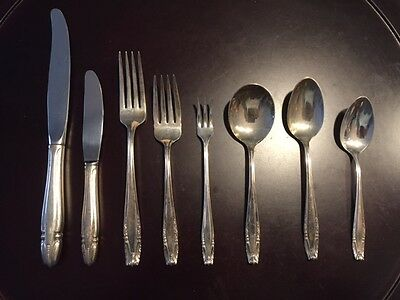 STRADIVARI STERLING SILVER FLATWARE BY WALLACE SERVICE FOR 12   96 pcs