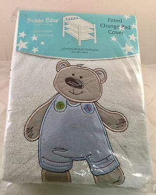 New Bubba Blue Baby Fitted  Change Pad Table Mat Cover Cute And Cuddly  Soft