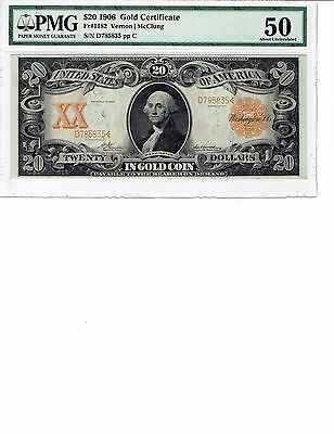 Fr 1182 $20 Gold Certificate PMG 50