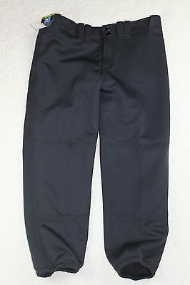 Mizuno Womens Black Belted Fastpitch Softball Pants Small M Elastic Bottom NEW