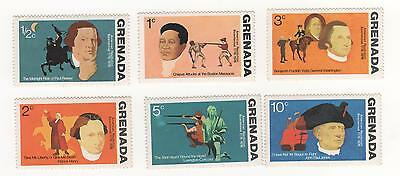 Grenada 1975 Bicentenary of American Revolution (6) to 10c fv SG#694- 699 fv MUH