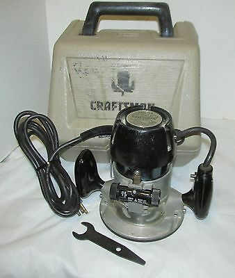 Craftsman Commercial Router No. 315.25070 with Case  Runs Nice! LQQK!