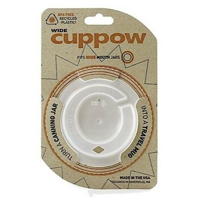 Cuppow Drinking Lid- Wide Mouth Ball Mason Jar- Lid Only