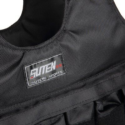 For Boxing Training Equipment Loading Weighted 1PC Black Jacket Vest 50kg SUTEN