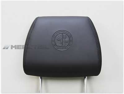 NEW Original Mercedes-Benz  AMG Leather Headrest with Ornamental Printing