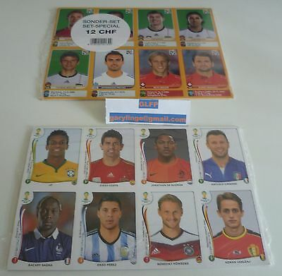Panini World Cup stickers 2010 (Swiss) + 2014 Extra Update sticker sets sealed