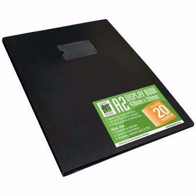 National Art Materials Black Presentation Book, A2 with 20 Sleeves