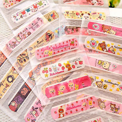 Useful 50PCS Random Patterns Bandages Cute Cartoon Band Aid For Family Used New