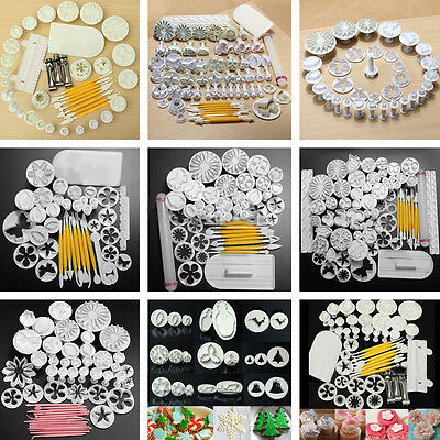 Fondant Cake Decorating Flower Sugarcraft Cutter Set Tools Cookies Icing Mold