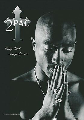 2pac tupac only god can judge me  Textile Poster Flag