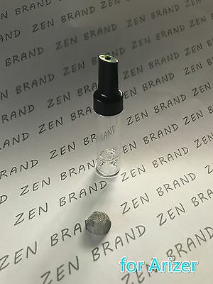 ZEN BRAND  Glass 70mm Aroma Tube  Silicon with Plastic Tip Stem Mouthpiece