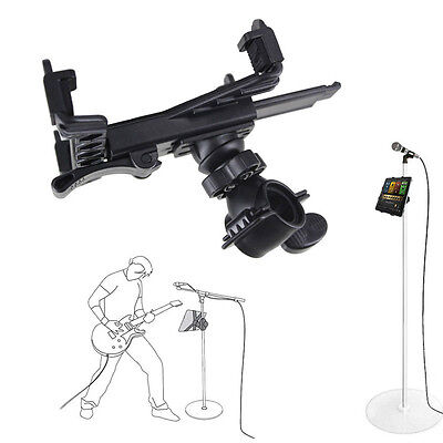 Music Microphone Stand Holder Mount For 7''-11''Tablet iPad Air 5432 Samsung