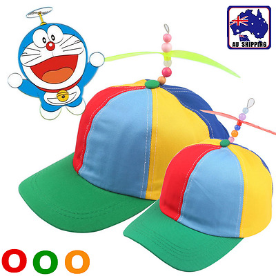 Adjustable Propeller Bamboo Dragonfly Hat Baseball Cap Unisex Kids Adult CAHA630