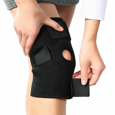 OUTAD Breathable Neoprene Knee Support Sleeve Active Wear Adjustable Black LN