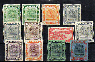 Brunei 1924-37 values to $1 MH + 1 FU CDS