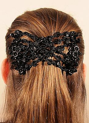 Magic Hair Clip EZ double comb Over 25 Different Hair styles for Women/Ladies bl