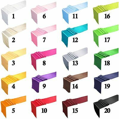 """12"""" x 108"""" Satin Table Runner Wedding Party Decorations Banquet Table Runners AU"""