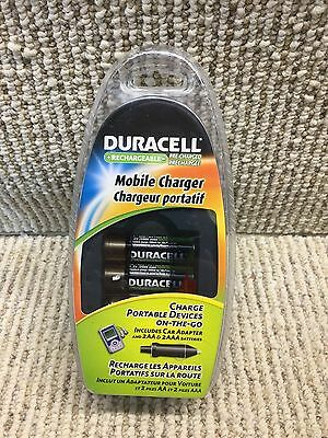 Duracell Mobile Charger Includes Car Adapter & 2 AA/ 2 AAA Batteries CEF23