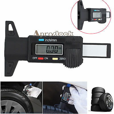 Digital Tyre Depth Gauge Tread Checker Motorbike Car Tire Tester Brake Shoe Pad