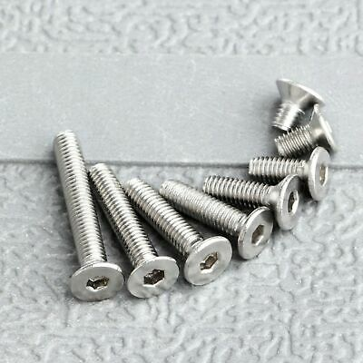 100pcs Durable Stainless Steel Silver Screws M3* 5-20mm Countersunk Hex Bolts