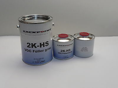 3,5 Liter Set 2K High Solid Filler new Lackpoint Tuning VW,Audi,Opel Car paint