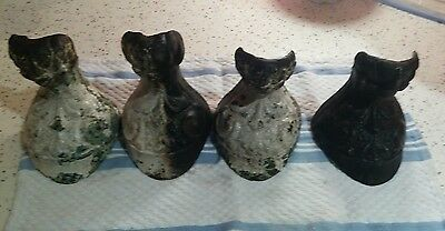 4 Victorian Matching Antique Cast Iron Eagle Feet Claw & ball Foot Bath Tub