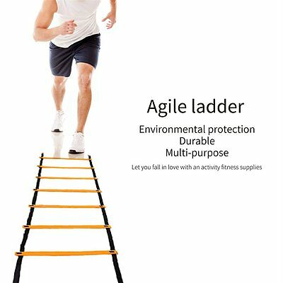 Quick Ladder Flat Rung Agility Training Ladder Multi-Sport Training Tool LN