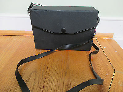 Binocular/photo case black, with snap and carry strap