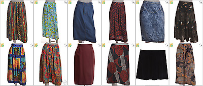 """JOB LOT OF 43 VINTAGE WOMEN""""S SKIRTS - Mix of Era's, styles and sizes (22933)"""