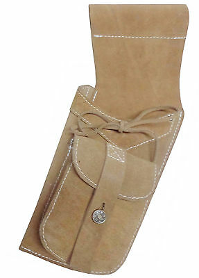 Traditional Fine Suede Tanned Side Hip Quiver Archery Product Aq-119 Left / Hand