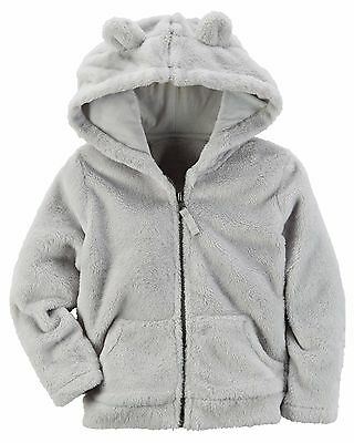 Carter's   Baby Girls' Sherpa Hooded Jacket    MSRP$30.00   9M, 12M