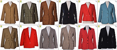 "JOB LOT OF 12 VINTAGE WOMEN""S SUIT JACKETS -Mix of Era's,styles and sizes(20807)"