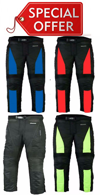 RKsports  Motorcycle Motorbike Black Red Blue  Yellow Trouser  CE armour Cordura