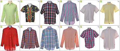 JOB LOT OF 46 VINTAGE MEN'S SHIRTS - Mix of Era's, styles and sizes (21865)