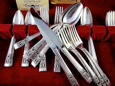 Vintage 41pc ONEIDA COMMUNITY Silverplate CORONATION Flatware Set for 8 W/BOX
