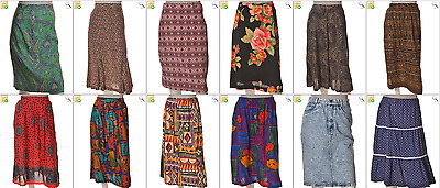 """JOB LOT OF 21 VINTAGE WOMEN""""S SKIRTS- Mix of Era's, styles and sizes (20962)"""