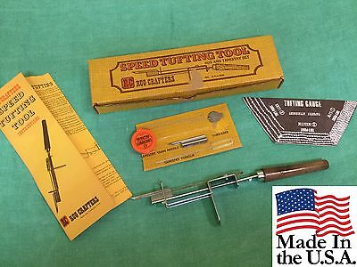 Vintage Brand new RUG CRAFTERS RC SPEED TUFTING TOOL Patent No. 3714.915 USA