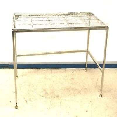 "Stainless Steel 60"" Length x 30"" Width x 32"" Height Wire Top Work Table"