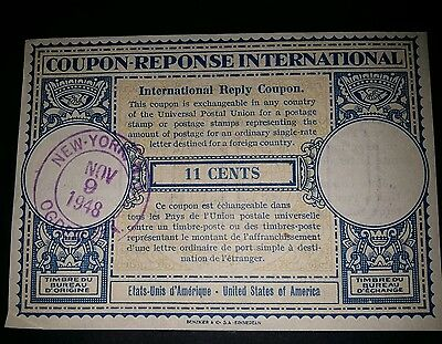 COUPON REPONSE INTERNATIONAL de 1948  - 11 C - ETATS UNIS D'AMERIQUE