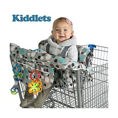 Shopping Cart Covers for Baby and High Chair Cover Includes Carry Bag Machine...