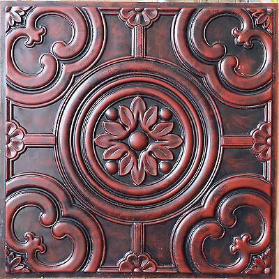ceiling tiles Faux finished age arckaic red decor wall panel PL50 10tiles/lot