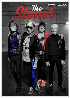 Rolling Stones 2018 Calendar Large Uk Poster Size By Oc + Free Uk Postage !!